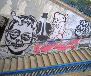 art, white, and graffiti image