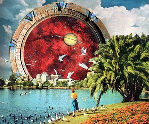 Collage, collage art, and sci-fi image