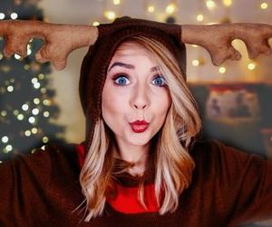 zoella, christmas, and youtube image