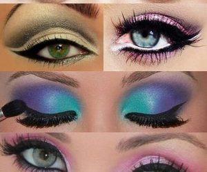 make up and eyes image