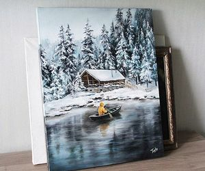 art, beautiful, and winter image