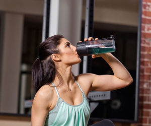 fitness, water, and water bottle image
