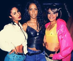 aaliyah, selena, and left eye image
