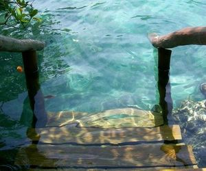 sea, stairs, and summer image