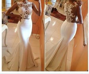 dress, white, and wedding dress image