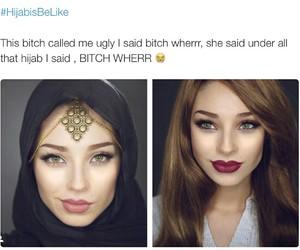 hijab, beautiful, and beauty image