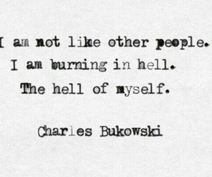 Bukowski, hell, and this image