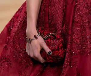 dress, red, and love image