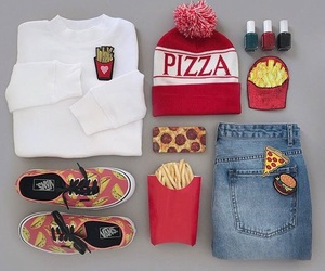 pizza, clothes, and outfit image