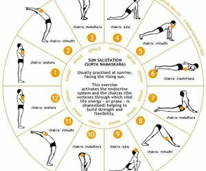 yoga and sun salutation image