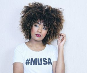 curls, big curly hair, and natural hair image