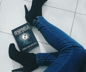 black and white, book, and classy image