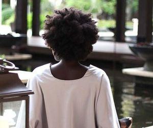 dark skin, natural hair, and afro hair image