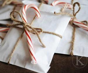 christmas, gift, and candy cane image
