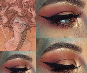 aries, glitter, and makeup image
