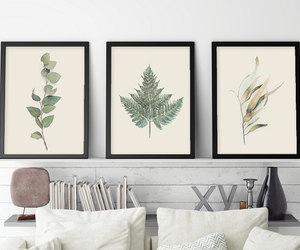 ferns, botanical print set, and set of 3 prints image