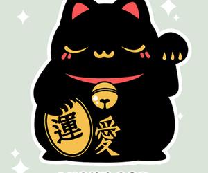 cat, lucky, and maneki neko image