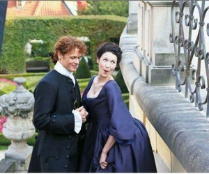 outlander, Claire, and sam heughan image