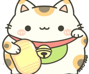 maneki neko, neko, and cute image