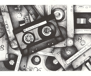 tape, music, and drawing image