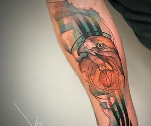 ink, tattoo art, and watercolor tattoo image