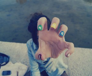 m&m, nails, and me image