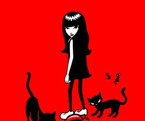 art, black cat, and emily the strange image