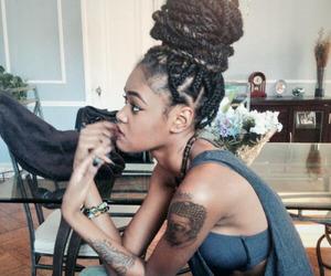 tattoo, braid, and hair image