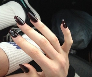 nails, grunge, and black image