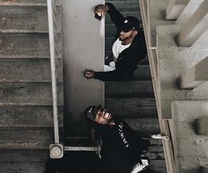 black, dope, and hoodie image