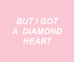 diamond, heart, and pink image