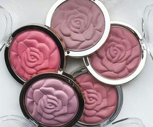 beauty, makeup, and rose image