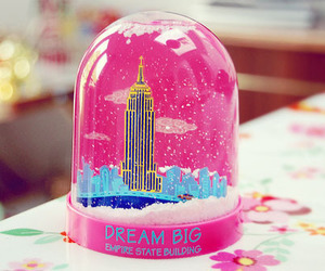 pink, Dream, and new york image