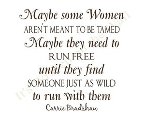 quote, woman, and Carrie Bradshaw image
