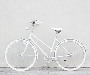 white, bike, and bicycle image