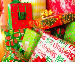 christmas, colors, and gift wrap image