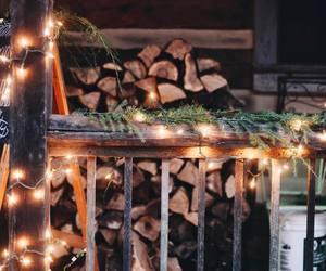 christmas, decoration, and firewood image