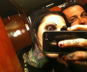 chris motionless, motionless in white, and guy image