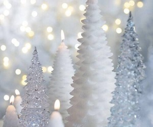 decorations, hiver, and lumieres image