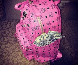 money, pink, and mcm image