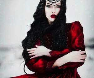 fantasy, Queen, and red image