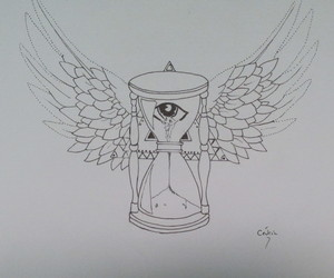 dust, eyes, and hourglass image