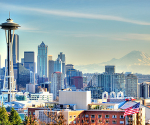 seattle, city, and Space Needle image