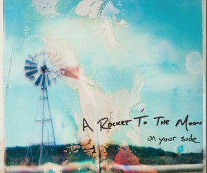 album, album cover, and rocket to the moon image
