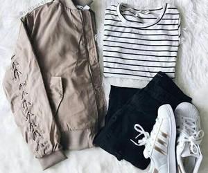 clothes, fashion, and adidas image