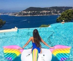 pool, summer, and girl image