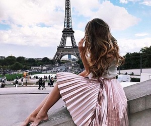 paris, travel, and pink image