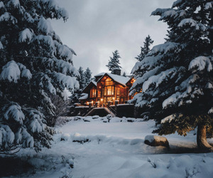 beautiful, chalet, and christmas image