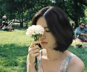 flowers, girl, and japan image