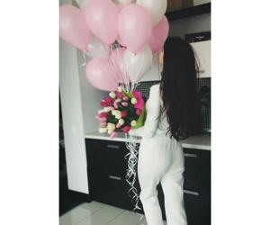 balloons, bb, and flower girl image